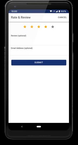 App feedback screenshot