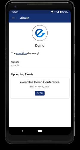 App org homepage screenshot